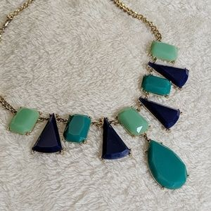 {forever 21} blue and teal statement necklace